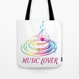 Music Themed T Shirts Colorful Graphic Tote Bag