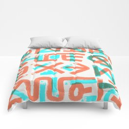 Abstract Graffiti Comforters