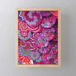 Moroccan traditional wool plate Framed Mini Art Print
