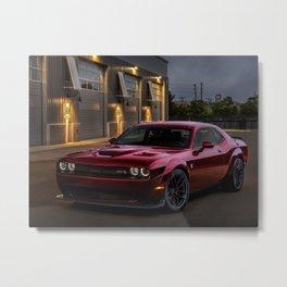 Octane Red Challenger SRT Hellcat Metal Print