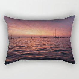 Sunrise Chicago Lake Rectangular Pillow