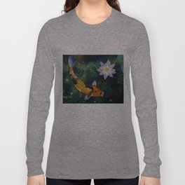 Showa Koi and Water Lily Long Sleeve T-shirt