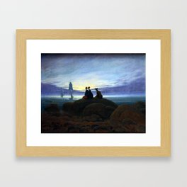 Caspar David Friedrich Moonrise over the Sea Framed Art Print