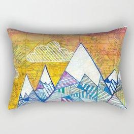 Maps and Mountains Rectangular Pillow