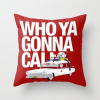 ghostbusters Throw Pillows featuring Ghostbusters by Martin Lucas
