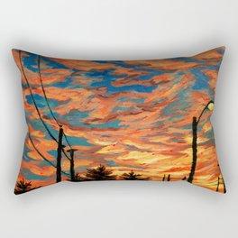 Street Meets Sky  Rectangular Pillow