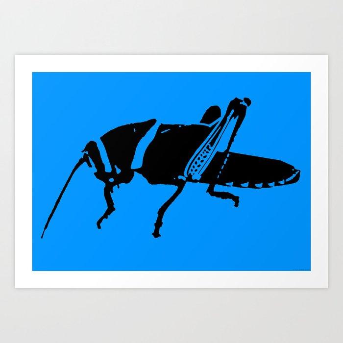 """""""Plague 8 - Blue"""" Art Print"""