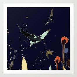 vol de nuit Art Print