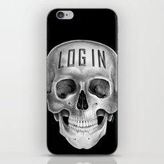 Skull Log in B&W iPhone & iPod Skin