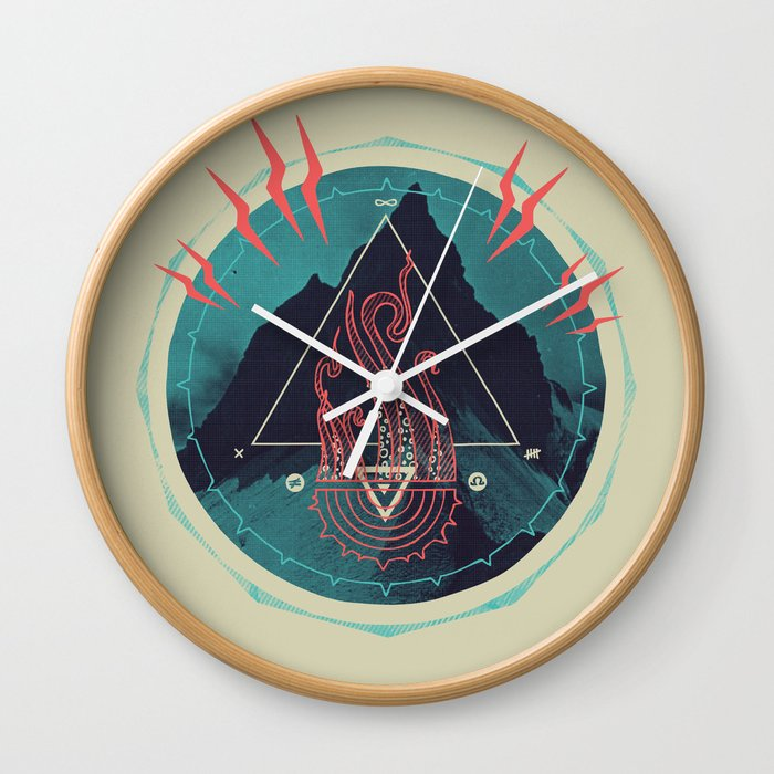 Mountain of Madness Wall Clock