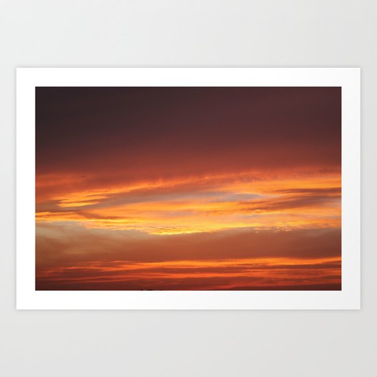 Red Evening Art Print