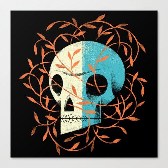 Skull Vines Canvas Print