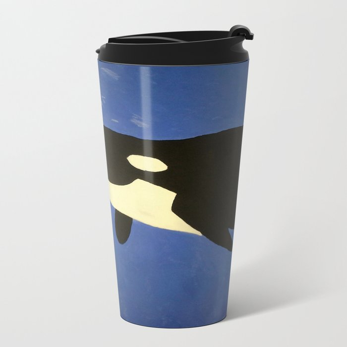 Mother and Child Whales Metal Travel Mug