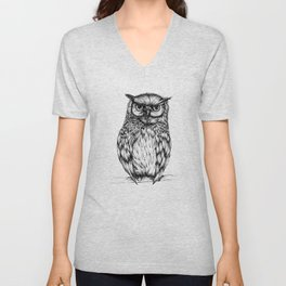 Inked Owl Unisex V-Neck