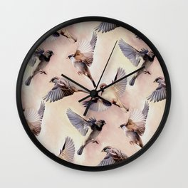Sparrow Flight Wall Clock