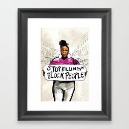 Stop Killing Black People Framed Art Print