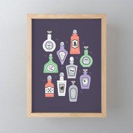 Potion Bottles Framed Mini Art Print