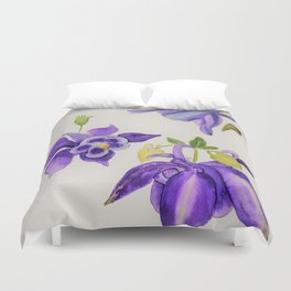 Aquilegia Flower Duvet Cover