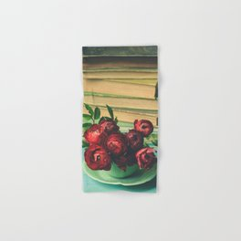 Books and Flowers Hand & Bath Towel