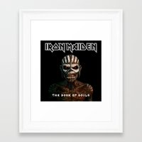 iron maiden Framed Art Prints featuring Iron Maiden-Book Of Souls by darma1982