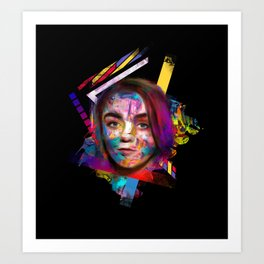 Lady in the color Art Print