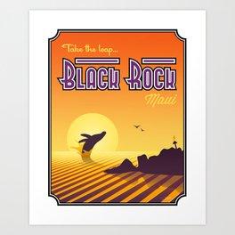Landmarks of Life™: Black Rock, Maui Art Print