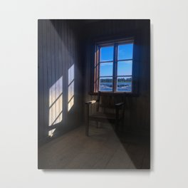 Chair by the window 1 Metal Print