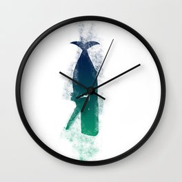 A Whale and a Man Wall Clock