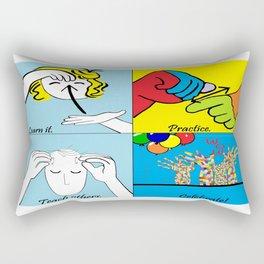 ASL Four Steps to Success Rectangular Pillow