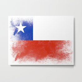 Chile flag isolated Metal Print