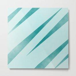 stripes lightblue and dark cyan Metal Print