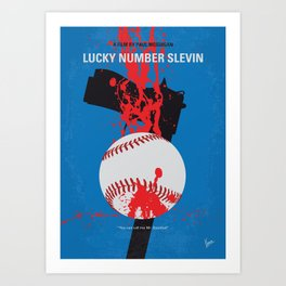 No880 My Lucky Number Slevin minimal movie poster Art Print
