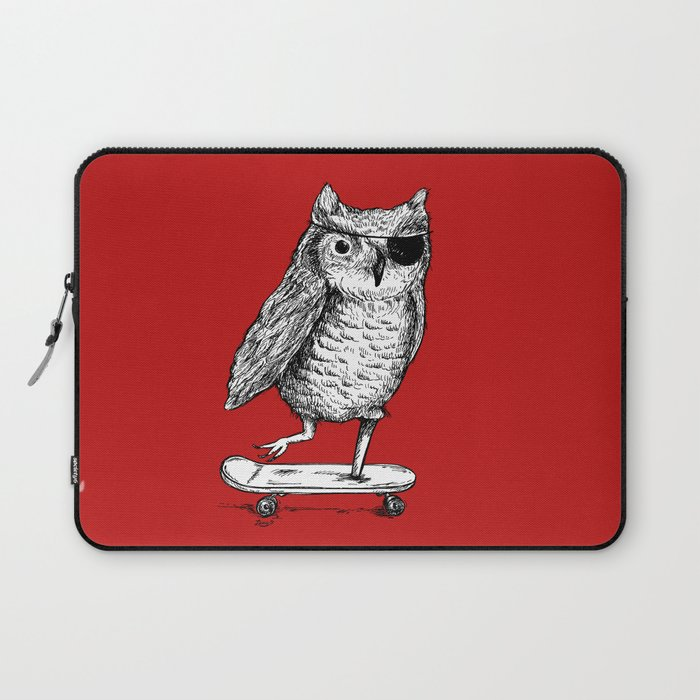 Ride On Owl_red Laptop Sleeve