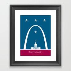 America: St. Louis Arch Framed Art Print