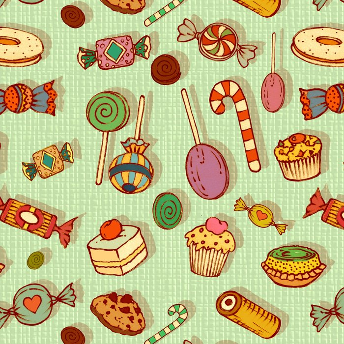 candy and pastries Leggings