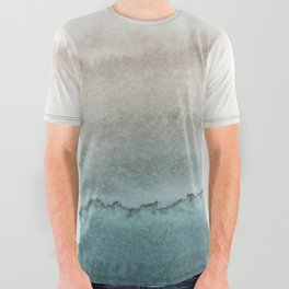WITHIN THE TIDES - CRASHING WAVES TEAL All Over Graphic Tee