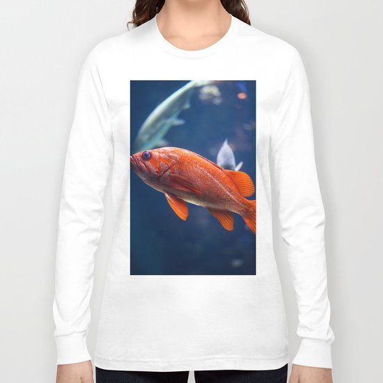 Red fish water Long Sleeve T-shirt