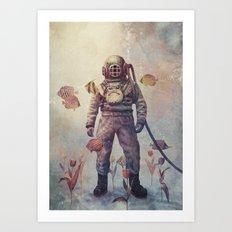 Deep Sea Garden - colour option Art Print