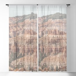 Utah Nature Landscape Art Print | Cedar Breaks National Monument Photo | USA Travel Photography Sheer Curtain