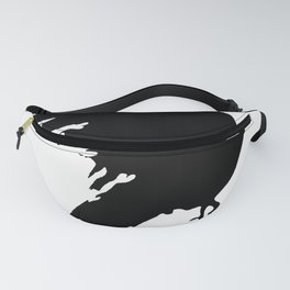 Ragged Raven Silhouette Fanny Pack