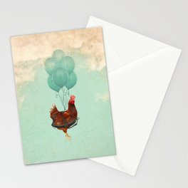 Chickens can't fly 02 Stationery Cards