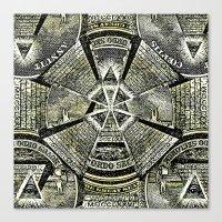 illuminati Canvas Prints featuring Illuminati by Brandon Combs - Glitz & Grime