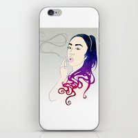 smoke iPhone & iPod Skins featuring Smoke by Stevyn Llewellyn