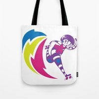 pivot Tote Bags featuring Rolling Thunder by Kate Santee