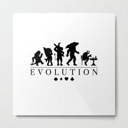Poker Darwinism Metal Print