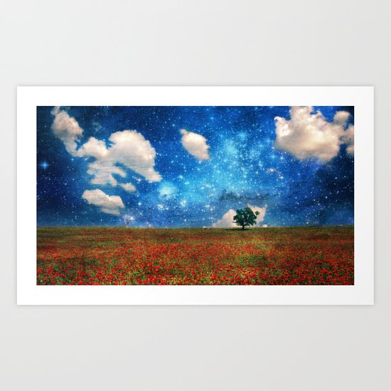 The Magical Night-Day Realm Art Print