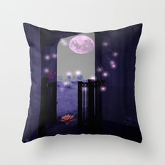 Basking In The Moon Showers  Throw Pillow