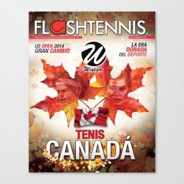 Flashtennis Magazine Cover of Tenis Canada Canvas Print