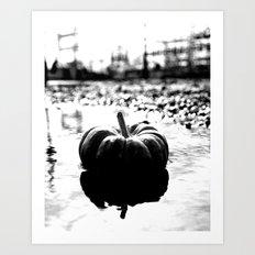 Power plant pumpkin Art Print