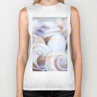shells Biker Tanks featuring Shells by Daisy Thijssen